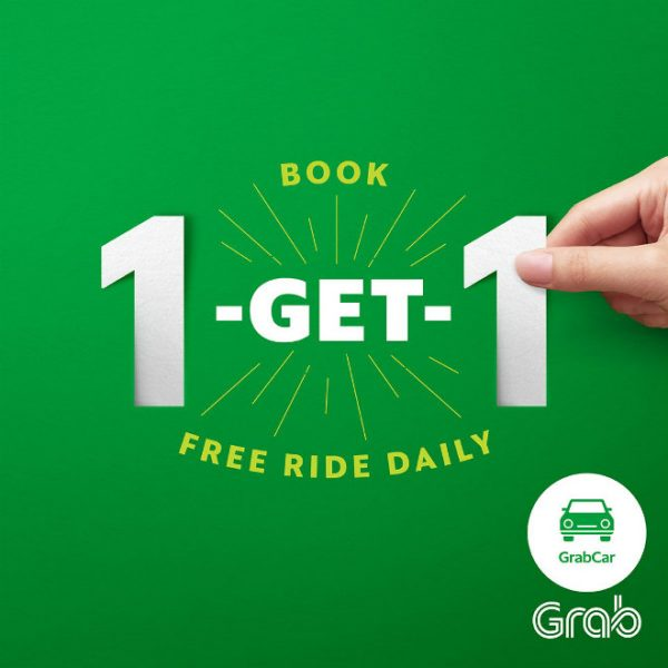 GrabCar Free Ride - Book 1 and Get 1 free ride daily!