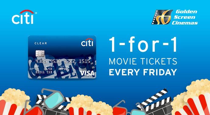 CitiBank Buy 1 free 1 movie