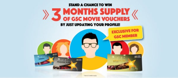 FREE GSC MOVIE Vouchers
