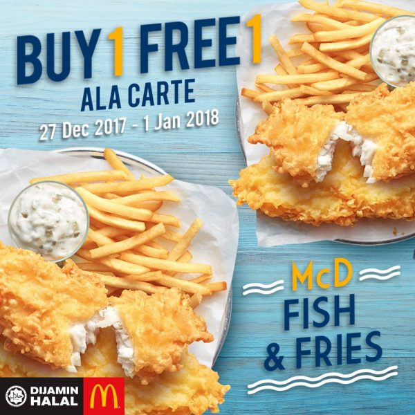 McD Fish & Fries Buy 1 Free 1