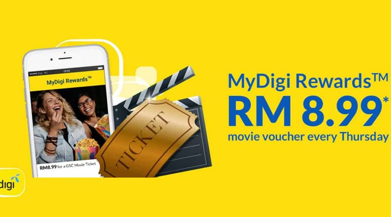GSC MyDigi Rewards RM 8.99 movie voucher