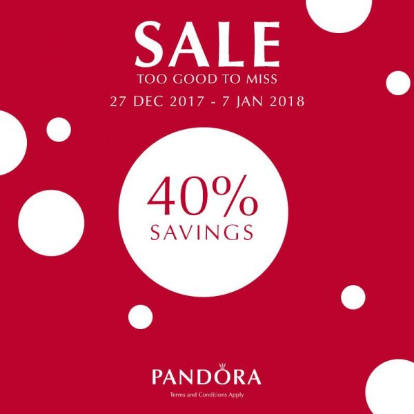 Pandora 40% discount savings