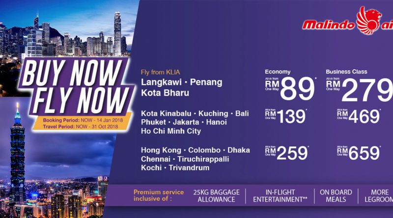 Malindo Air promotion 2018