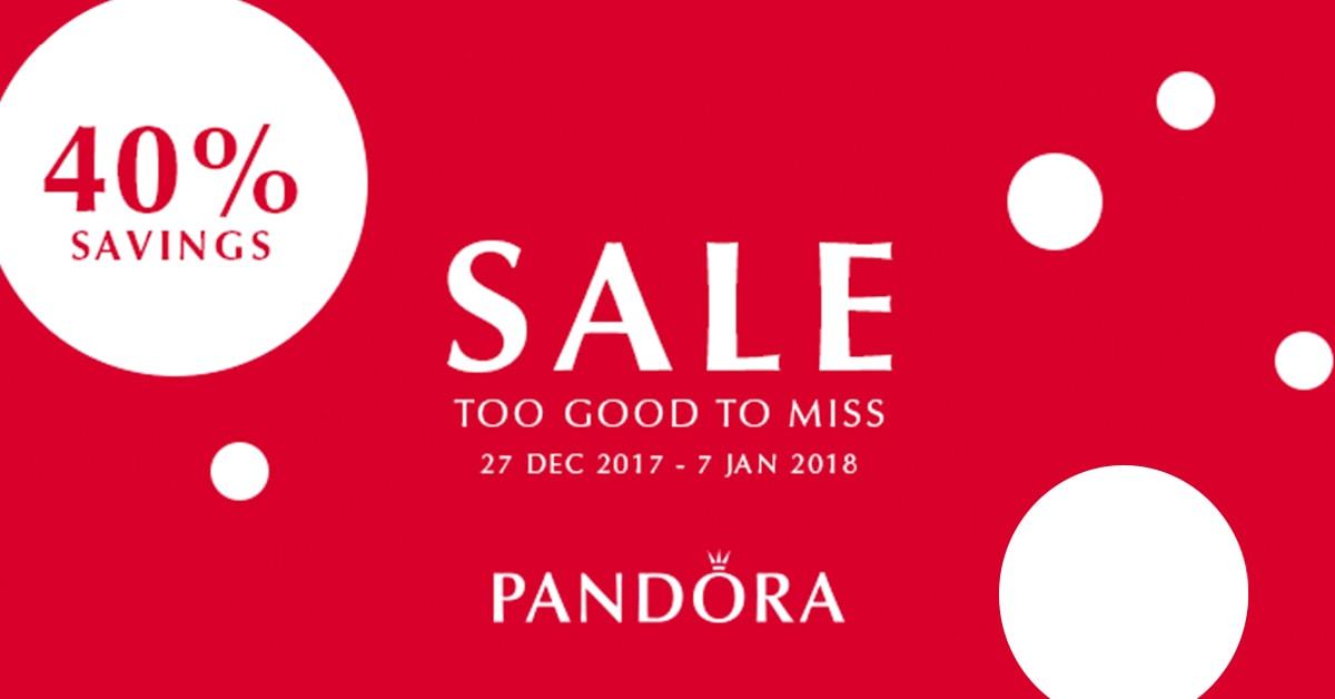Pandora 40% discount savings